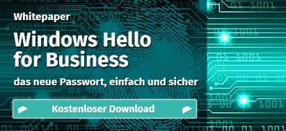 Windows Hello for Business – das neue Passwort, einfach und sicher
